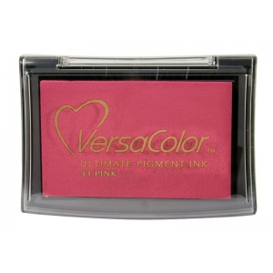 VersaColor™ Pigment Ink Pad Pink: Red/Pink, Pad, Pigment, Full Size Rectangle, (model VC033), price per each