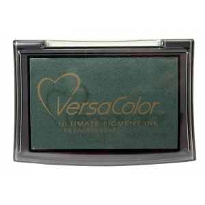 VersaColor™ Pigment Ink Pad Laurel Leaf: Black/Gray, Pad, Pigment, Full Size Rectangle, (model VC186), price per each