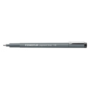 Staedtler® Pigment Liner 1.0mm: Black/Gray, Pigment, 1.0mm, Fine Nib, Technical, (model 30810), price per each