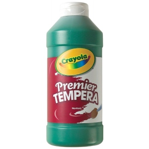 Crayola® Premier Tempera Paint 16oz Green: Green, Bottle, 16 oz, Tempera