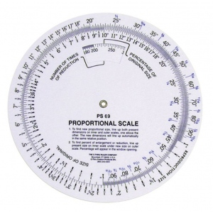 "Westcott® C-Thru® 5"" Proportional Scale: White/Ivory, Plastic, 5"", (model PS69), price per each"