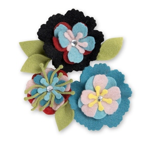 Sizzix - Thinlits Die Set 13 Pack - Stitchy Flowers & Leaf by Eileen Hull