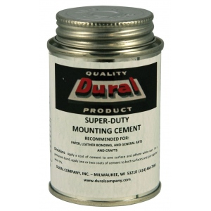 Dural Super-Duty Mounting Cement 4oz: 4 oz, (model SDMC4), price per each