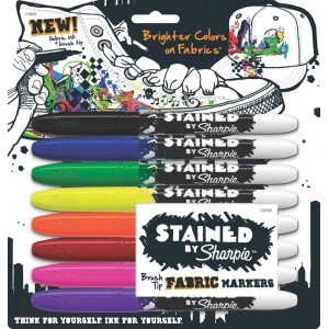 Stained™ By Sharpie® Fabric Marker 8-Color Set: Multi, (model SN1779005), price per set