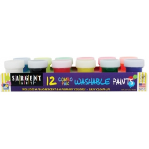 Sargent Art® ComboPak Washable Paint Set; Color: Multi; Format: Jar; Type: Washable; (model 665416), price per set