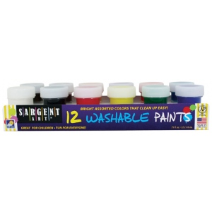 Sargent Art® Premier Washable Paint Set; Color: Multi; Format: Jar; Type: Washable; (model 665418), price per set