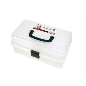 "Heritage Arts™ Mid-Size Art Tool Box: Clear, Plastic, 7""d x 12 1/2""w x 6""h, (model HPB1307), price per each"