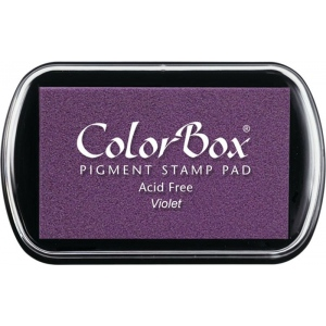ColorBox® Full Size Ink Pad Violet: Purple, Pad, Pigment, Full Size Rectangle