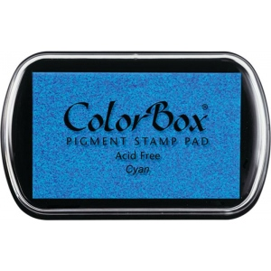 ColorBox® Full Size Ink Pad Cyan: Blue, Pad, Pigment, Full Size Rectangle, (model CS15019), price per each