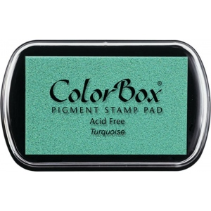 ColorBox® Full Size Ink Pad Turquoise: Blue, Pad, Pigment, Full Size Rectangle, (model CS15020), price per each