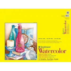 Strathmore® 300 Series Cold Press Tape Bound Watercolor Pad