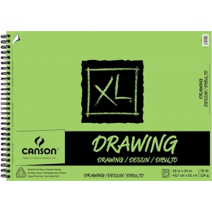 "Canson® XL® 18"" x 24"" Drawing Pad (Side Wire): Wire Bound, White/Ivory, Pad, 30 Sheets, 18"" x 24"", Smooth, (model C100510917), price per 30 Sheets pad"