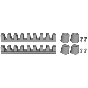 Alvin® PXB Rubber Grips Replacement Tracks: Replacement Part, Drawing Board, (model TF2N), price per set