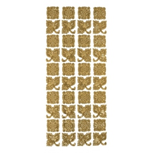 "Blue Hills Studio™ DesignLines™ Outline Stickers Gold #21: Metallic, 4"" x 9"", Outline, (model BHS-DL021), price per pack"