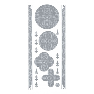 "Blue Hills Studio™ DesignLines™ Outline Stickers Silver #28: Metallic, 4"" x 9"", Outline, (model BHS-DL028), price per pack"
