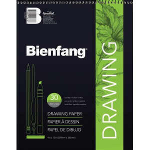 "Bienfang® 18"" x 24"" Raritan Drawing Paper Pad: White/Ivory, Pad, 30 Sheets, 18"" x 24"", Medium, 70 lb, (model 523WB-257), price per 30 Sheets pad"