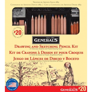 General's® Classic Sketching & Drawing Kit: Multi, Drawing, (model G20), price per set
