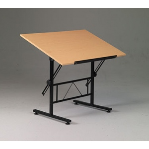"Smart Drafting/Hobby Table with 24"" x 36"" Birchwood Top: Model # U-DS40B"