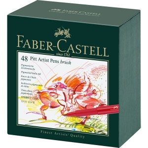 Faber-Castell PITT Artist Pen: Studio Box with 48 Colors