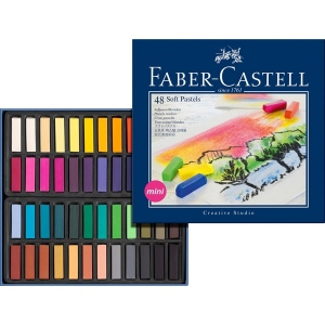 Faber-Castell Studio Quality Mini Soft Pastel: Cardboard Box of 48