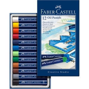 Faber-Castell Creative Studio Oil Pastel: Cardboard, Box of 12