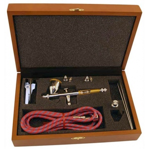 Paasche TG Airbrush Set in Wood Case - TG-3W