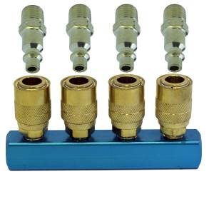 Paasche 4 Outlet Manifold with Quick Disconnect Fittings - QM-4