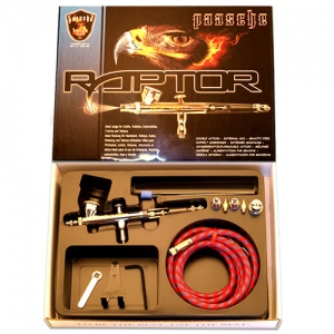 Paasche Raptor Double Action Gravity Feed Airbrush Set - RG-3S