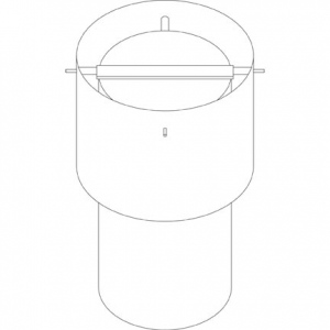 Paasche 12 Inch Weather canopy & damper - WC-12