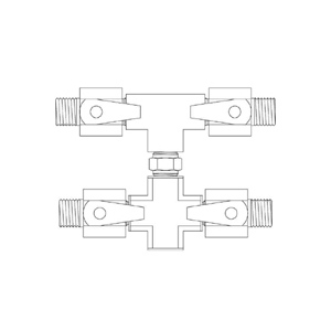 Paasche 4 Outlet Manifold with 1/4 Inch NPT Fittings - HFM-4-1/4