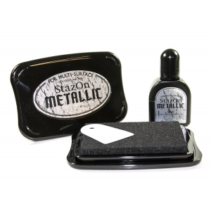StazOn Ink Pad Metallic: Silver