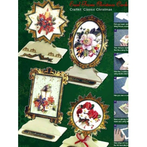 Christmas Easel Frame Card Kit (4)- Classic Christmas