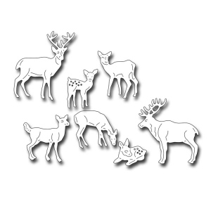 Frantic Stamper Precision Die - Herd of Deer