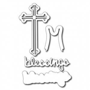 Cutting Die - Blessing & Cross set (4 dies)