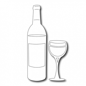 Cutting Die -Wine Bottle and Glass Set (2 pieces)