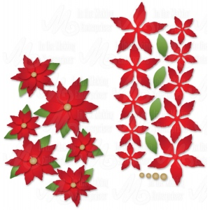 Dee's Distinctively  Dies Mini Poinsettias
