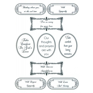 Sentimentally Yours Clear Stamp - Words of Sincerity