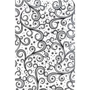 Creative Expressions Embossing folder A4 size - Frosty Swirls