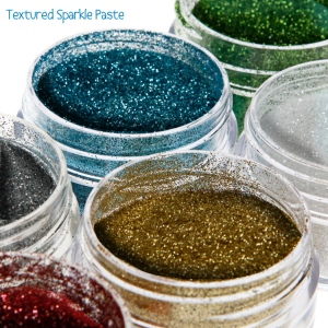 Cosmic Shimmer Textured Sparkle Paste: Gunmetal