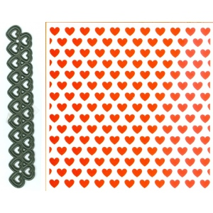 Marianne Design Embossing Folder And Die - Design Folder Extra - Hearts