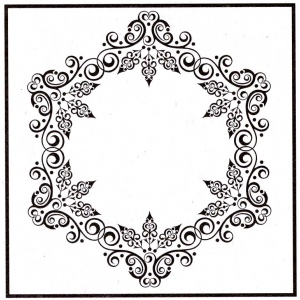 Ecstasy Crafts Embossing Folder - Christmas Round-1
