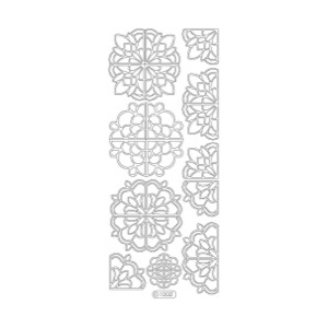 Deco Stickers - Large Corners: Silver