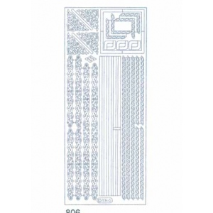 Deco Stickers - Borders & Corners: Silver