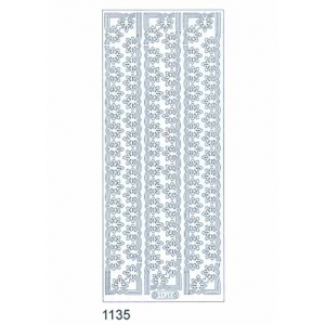 Deco Stickers - Flower Border: Silver