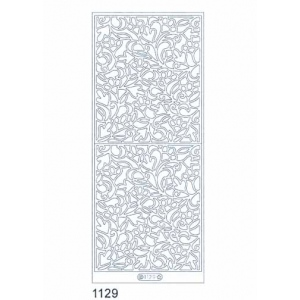 Deco Stickers - Rectangular Panel: Silver