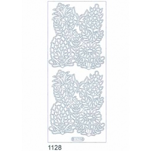 Deco Stickers - Wildflowers With Butterfly: Silver
