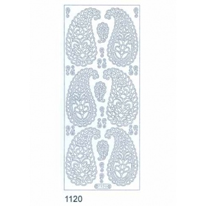 Deco Stickers - Paisley: Silver