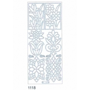 Deco Stickers - Flower Designs: Silver