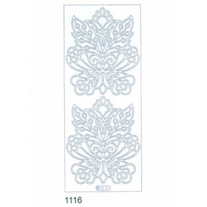Deco Stickers - Large Flower: Silver
