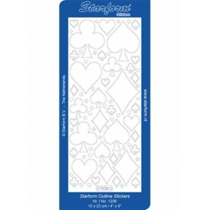 Deco Stickers - Playing Card Shapes: Silver